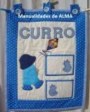 Tapiz infantil niño en patchwork nombre Curro