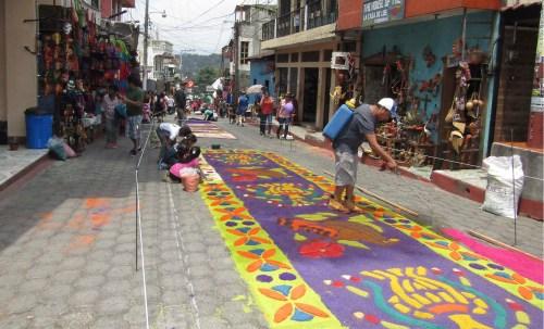 Alfombras en Semana Santa Guatemala