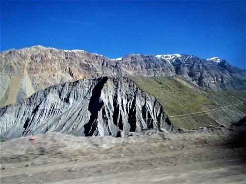 Geología hacia el Embalse de Yeso.