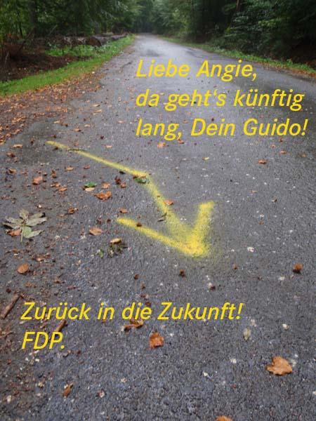 Guido hält noch nichts von GPS!