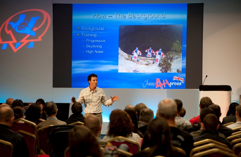 Alastair Macartney speaking at the BPA AGM on Mission to the Eiger.