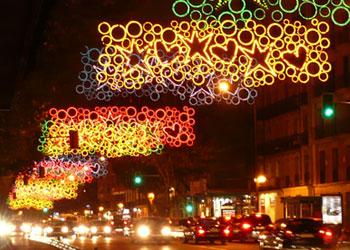 Iluminación navideña Madrid 2008