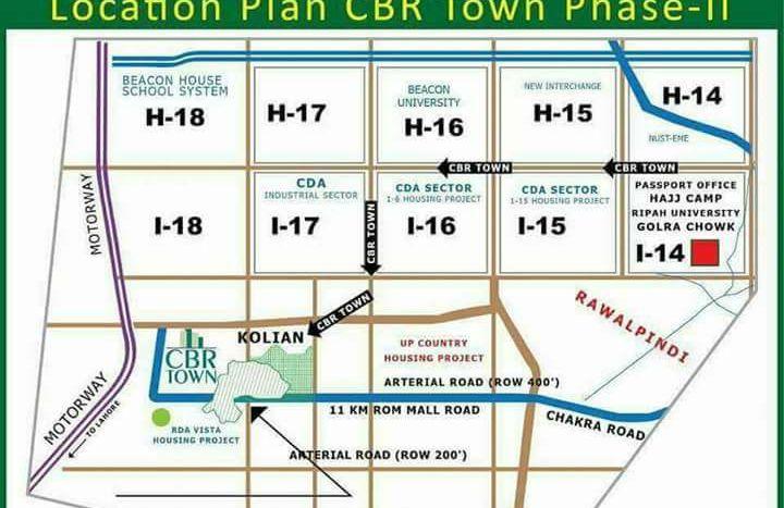 Location Plan CBR Town Phase 2