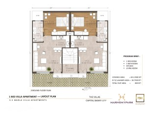 3.5 Marla Boutique villa apartment floor plan