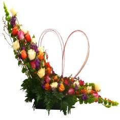 amor y sentimiento. Alma floral
