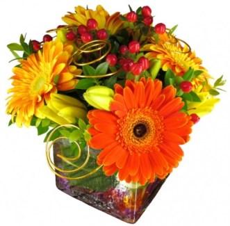 centro mesa gerbera 01 alma floral