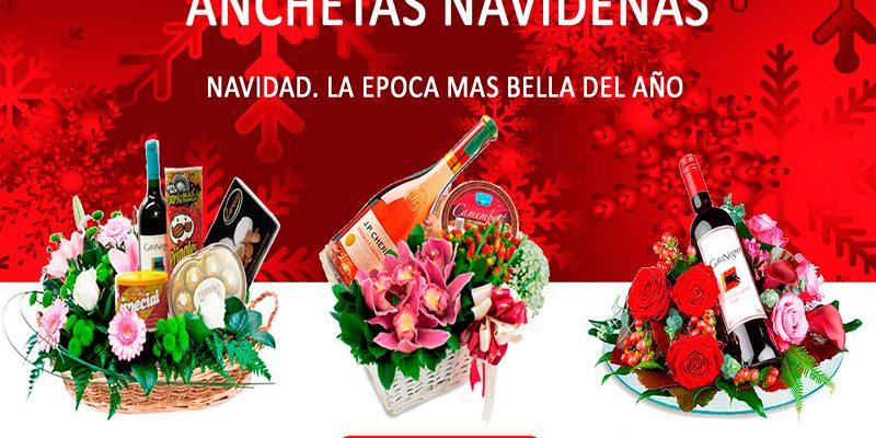 Anchetas navideñas 2019. Floristería ALMA FLORAL Bogotá