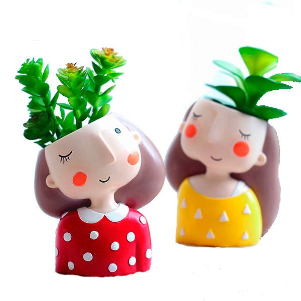 Matera Cute girls. Recordatorios con suculentas. Floristería ALMA FLORAL Bogotá