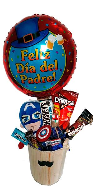 ANCHETA MI HEROE. Regalos Día del Padre 2020 Bogotá. Floristería ALMA FLORAL