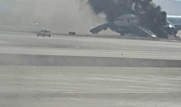 اندلاع حريق بطائرة كورية جنوبية قبيل إقلاعها من مطار طوكيو الدولي