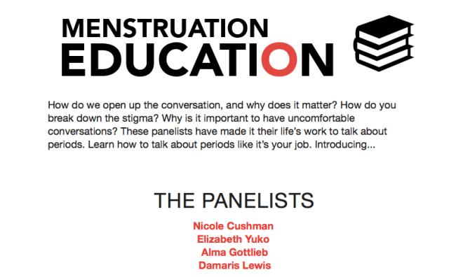 Menstruation Conference, 11-17-17