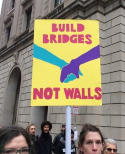Poster, Build Bridges Not Walls, cropped