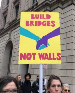 Poster, Build Bridges Not Walls, cropped