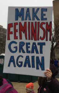 Poster, Make Feminism Great Again, cropped