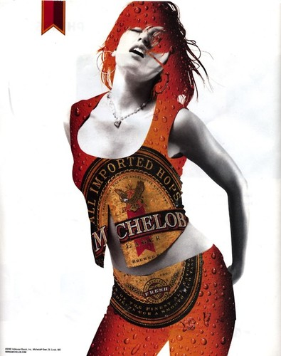 Woman as Michelob Beer Bottle Ad