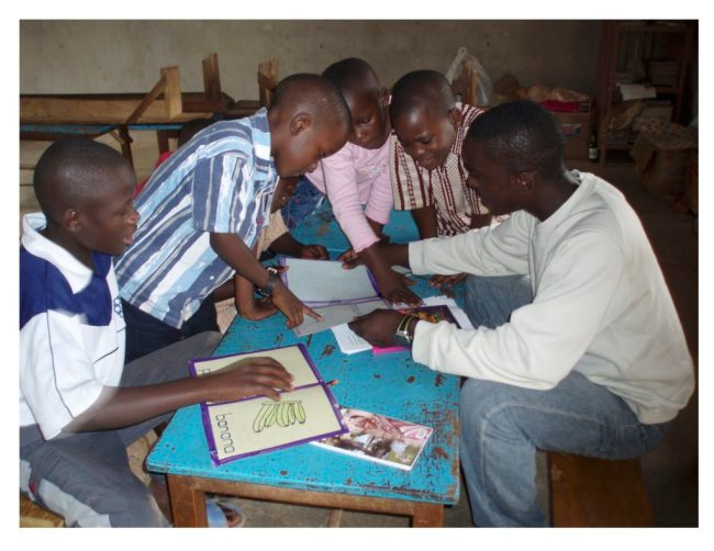 Youth Research Assistant Works w His Group