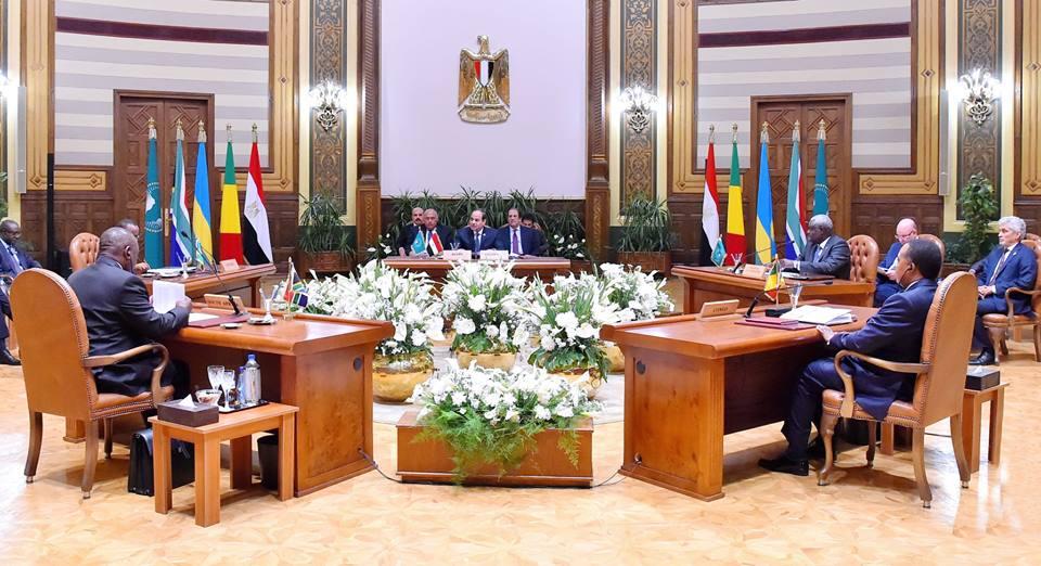 الرئيس السيسي في قمة الاتحاد الإفريقي بشأن ليبيا
