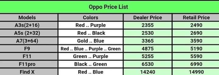 أسعار هواتف أوبو