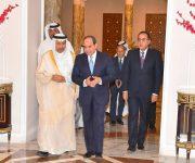 السيسي يستقبل رئيس وزراء الكويت: «أمن الخليج مرتبط بالأمن القومى المصرى»