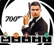 رفقًا بالتاريخ.. رونالدو يحطم الأرقام ويصل لـ700 هدف في مسيرته