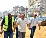 السيسي يتفقد مشروعات الطرق والكباري بمصر الجديدة (صور)