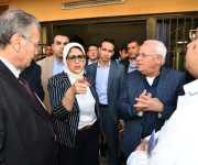 وزيرة الصحة تطالب بإنهاء المرحلة الثانية لمستشفى الرمد التخصصي ببورسعيد