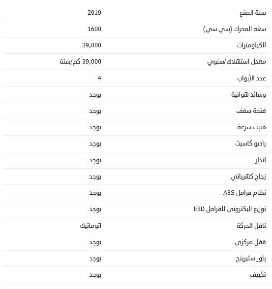 أسعار سوبارو XV المستعملة 2019