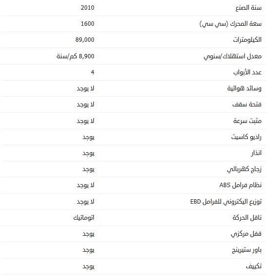 سعر هيونداي ماتريكس 2010