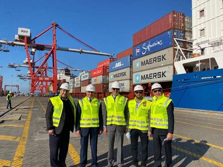 وفد تدريب الموانئ يشهد اليوم افتتاح محطة حاويات ميناء طنجة المغربي