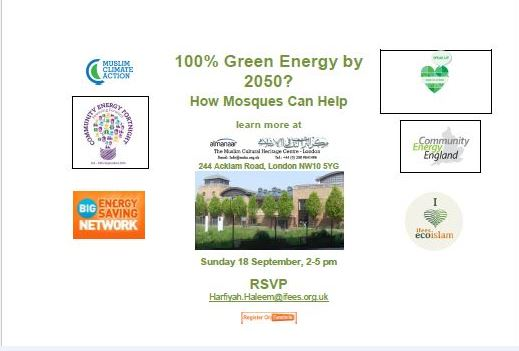 100% Green Energy by 2050? How Mosques Can Help?