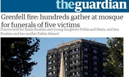Grenfell fire: hundreds gather at mosque for funerals of five victims
