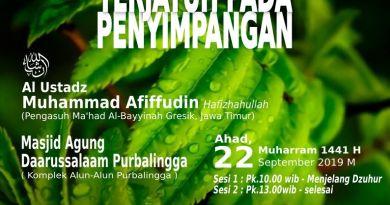 AUDIO Tabligh Akbar KETIKA SAUDARAMU TERJATUH PADA PENYIMPANGAN – Ustadz Muhammad Afiffudin Assidawy