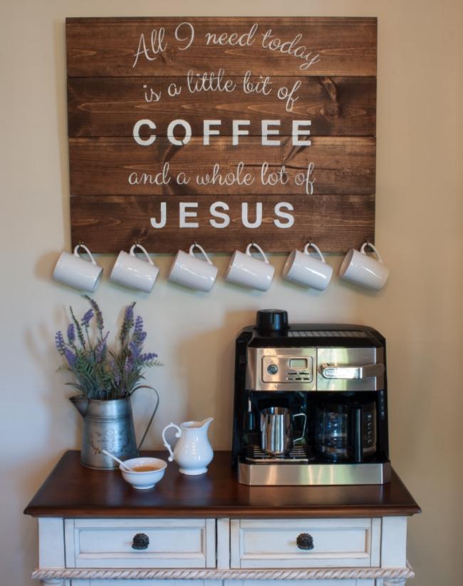 أجمل التصاميم لـ ركن القهوة كوفي كورنر وكوفي بار منزلي هذا العام Al Mara