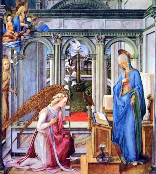 The Annunciation, by Fra' Filippo Lippi, 1443