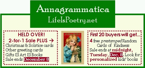 Annagrammatica Sale Ad Cards Gifts 2 for 1