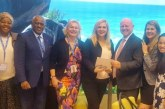 WOMAN'S DAY AT ITB IN BERLIN SAW LELA KRSTEVSKA FROM THE GOVERNMENT OF THE REPUBLIC OF MACEDONIA FORMALLY ENDORSE ALAIN ST.ANGE OF THE SEYCHELLES FOR THE UNWTO ELECTIONS