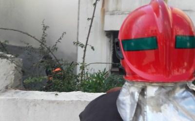 حريق بفيلا بحي أكدال الرباط +صور
