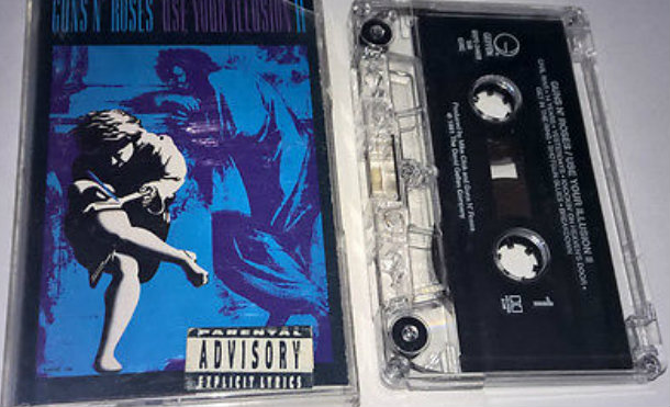Guns N Roses Use Your Illusion Ii Cassette Tape Club Version Crc 1991 Rock Gnr E8f722d6ac3b9b08bdf0757c4be27bb8