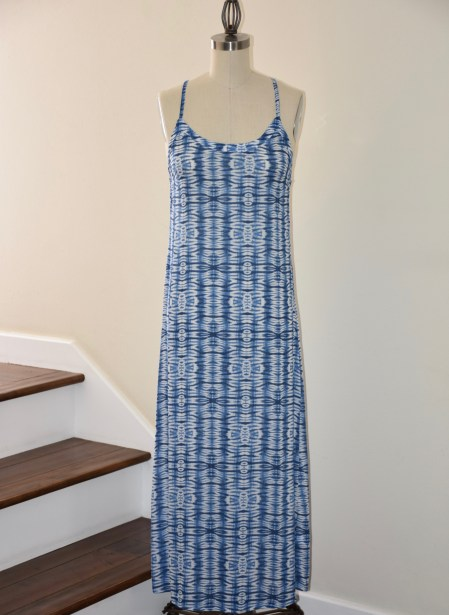 Shibori Print Column Dress