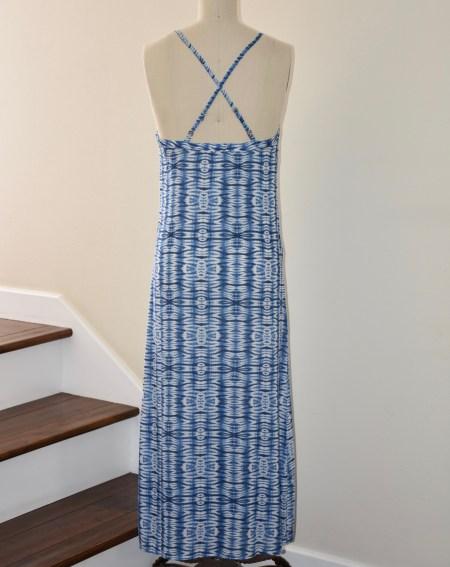 Shibori Print Column Dress