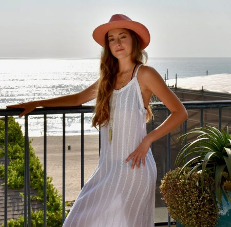 White Cotton Embroidered Eyelet Dress