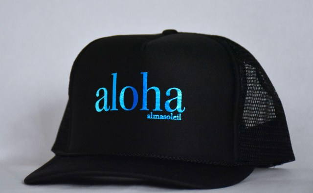 Black with Blue Metallic aloha