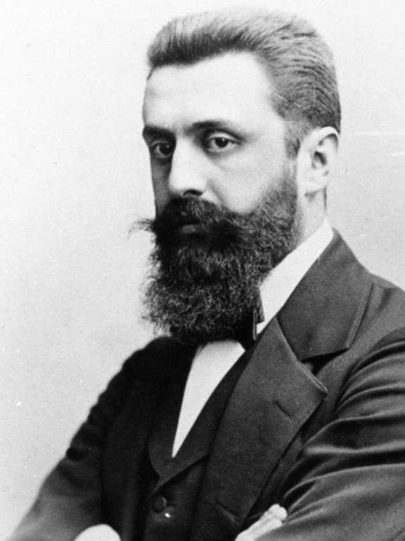 Theodor Herzl all'incirca nel 1900. Wikicommons/ Carl Pietzner. Alcuni diritti riservati.