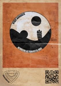 Dune Arrakis Logo poster with sandworms
