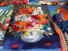 маки, поле, цветение, маковое поле, войлок, валяние, купить войлок, войлок Алматы, картина, войлочное панно