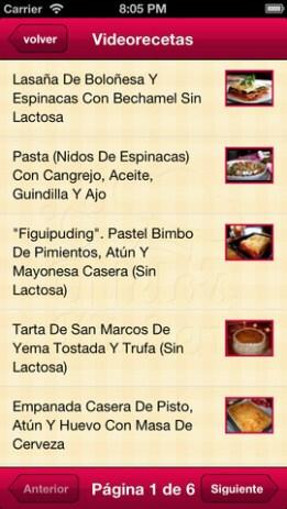 app cocina sin lactosa recetas