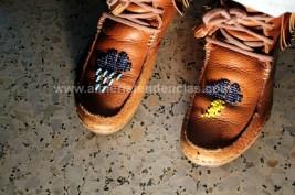 Los zapatos de una artista