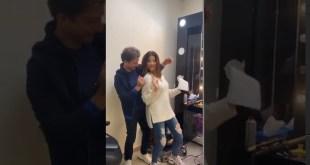نانسي عجرم ترقص برفقة رجل غريب