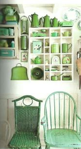 Zestawiajmy różne odcienie zieleni! :)