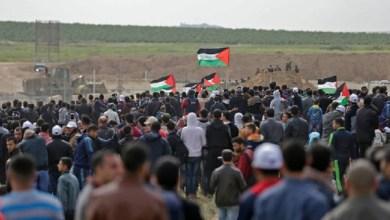 "Photo of قطاع غزة.. ""مسيرة العودة وكسر الحصار"" تسجل إصابة 77 فلسطينيا"